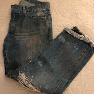 Madewell Straight Slouch distressed jeans